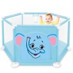 Tarc de joaca pentru copii cu imprimeu si usita cu fermoar, Albastru  TT3004