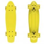 Penny board cu roti de silicon si lumini ABEC-7, PU, Aluminiu, HB3007-A