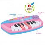 Mini pianina de jucarie interactiva, MZ 1006-B