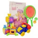 Set cub cu forme + telefon de jucarie + palate de tenis +punga cadou, PAKMT2