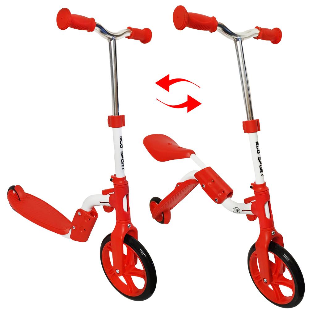 Trotineta 2 in 1 (Trotineta/Bicicleta), Rosu, PC58
