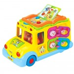 Mini autobuz scolar educativ cu sunete si lumini, WW 5071