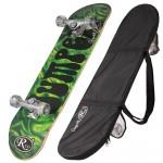 Skateboard din lemn cu husa RCO, ABEC5, PU, 78,5 cm, Aluminiu, HB2005 C